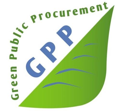 Logo dobrovoľného politického nástroja v oblasti životného prostredia - Zelené verejné obstarávanie
